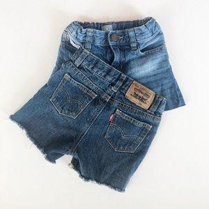 Levi's & Gap Cut Off Jean Shorts